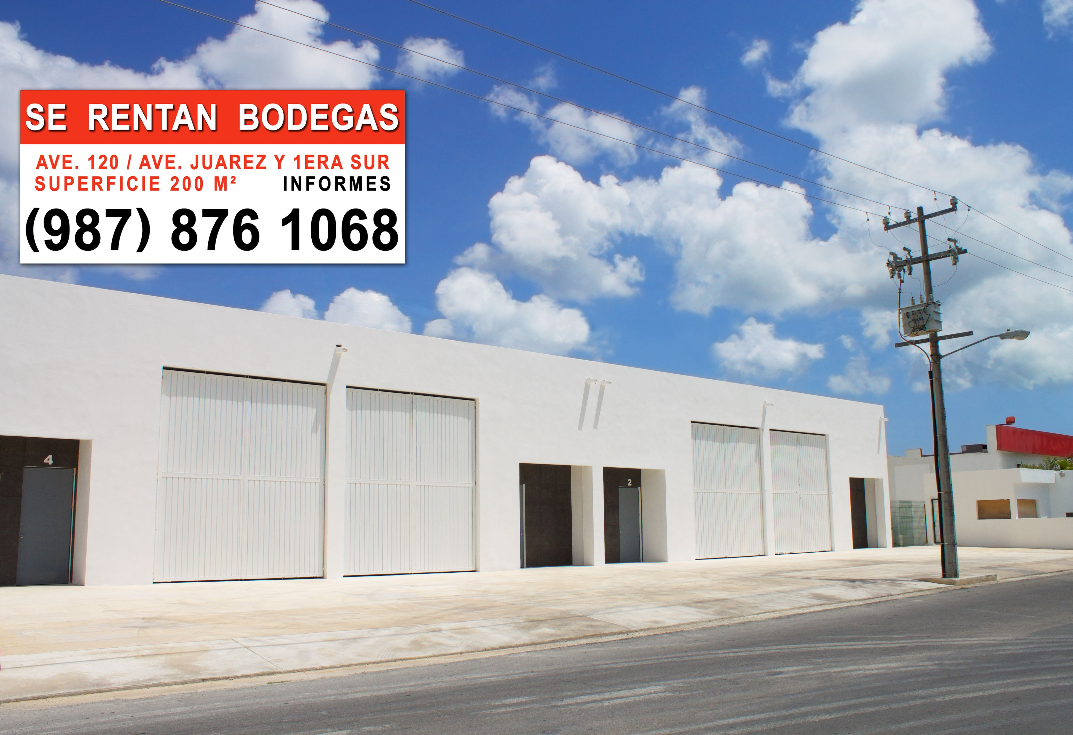 Bodegas en renta cozumel | self storage for rent cozumel | locales comerciales en renta cozumel | commercial place for rent cozumel | centro comercial cozumel | bodegas industriales | bodegas concreto | Maderería y Materiales para Construcción Dimaco Cozumel